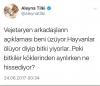aleyna tilki nin vejetaryen tweeti