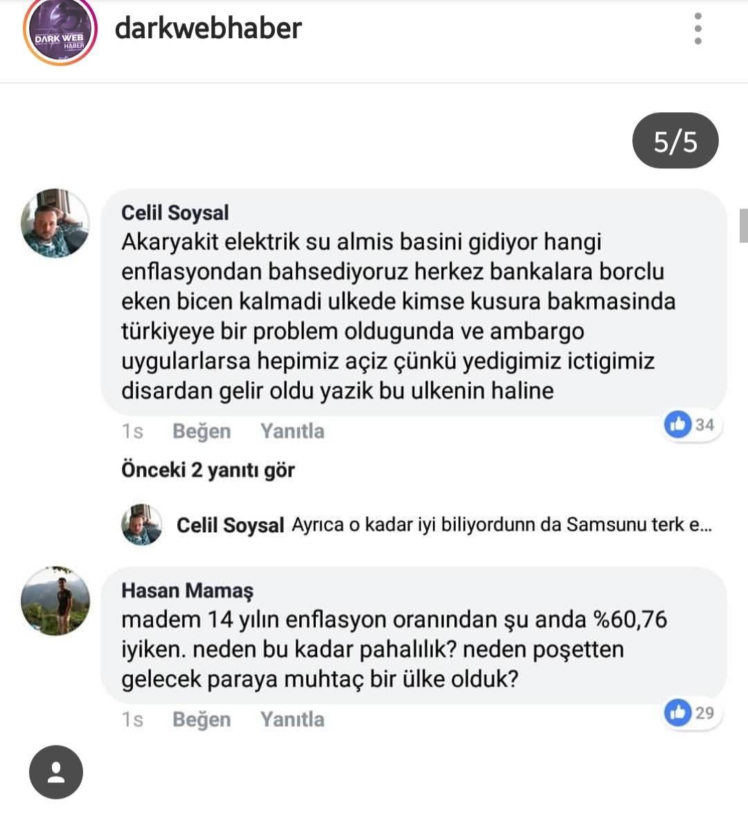 cb erdoğan ın enflasyon paylaşımına tepki gelmesi