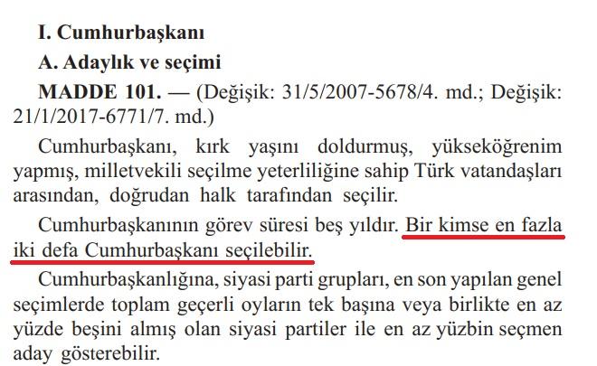 erdoğanın 2023 te aday olamayacağı gerçeği