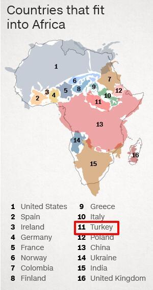 dünya haritasında büyük çizilen ülkeler