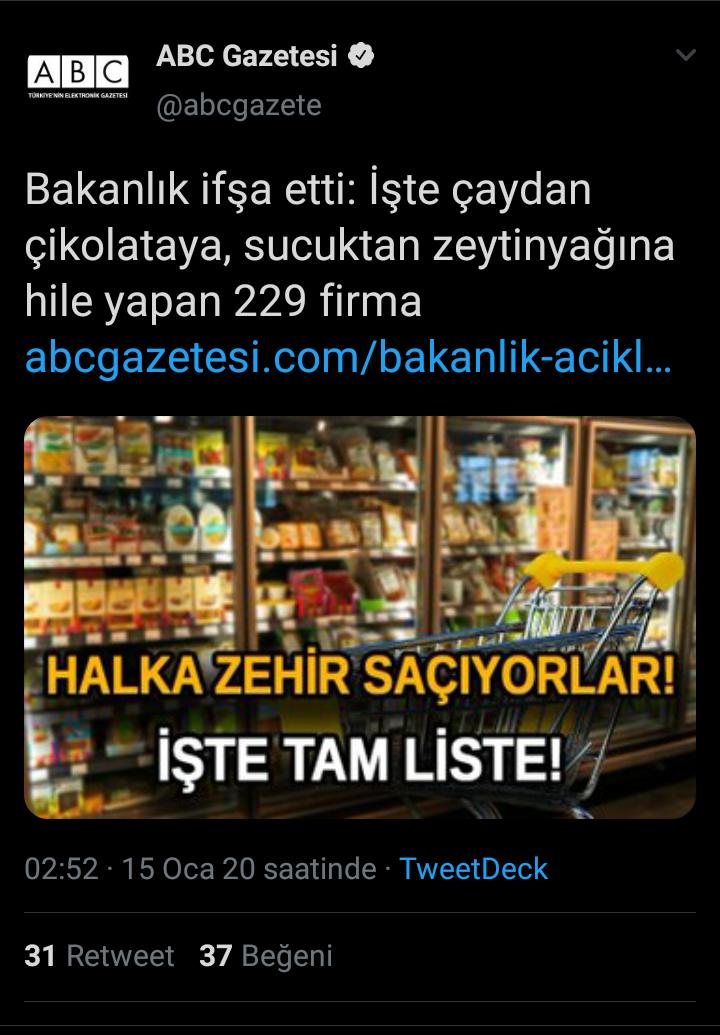 gıda da hile yapan 229 firma
