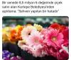 akpli kartepe belediyesinin şaşırtan çiçek sevgisi