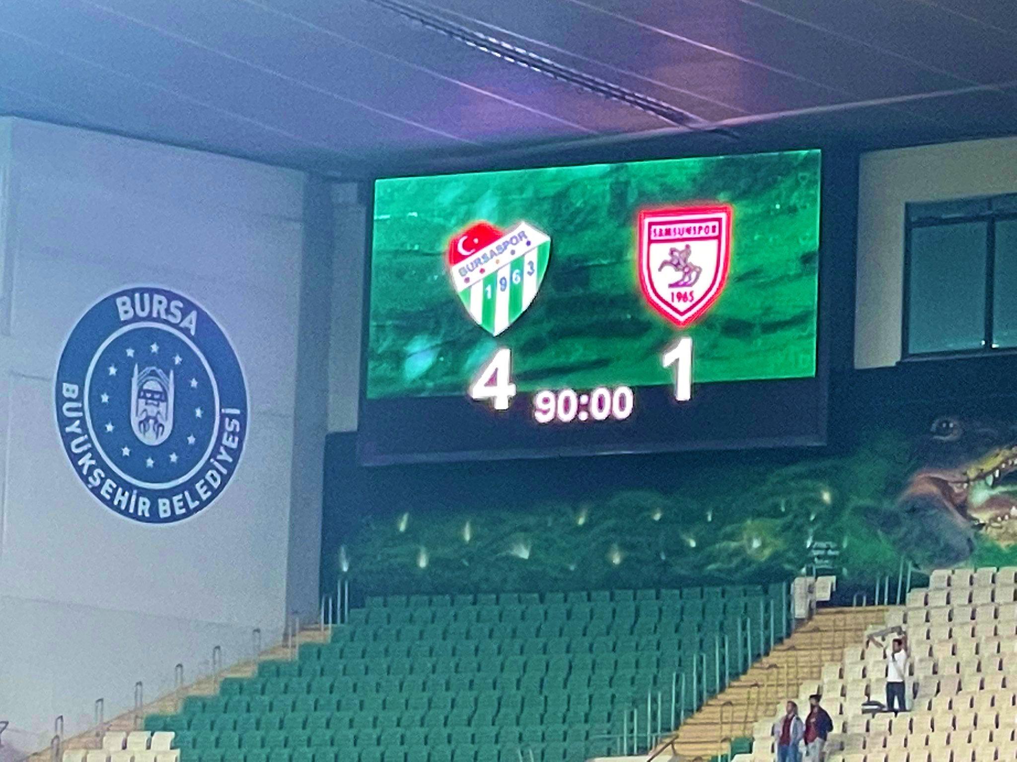 15 eylül 2021 bursaspor samsunspor maçı