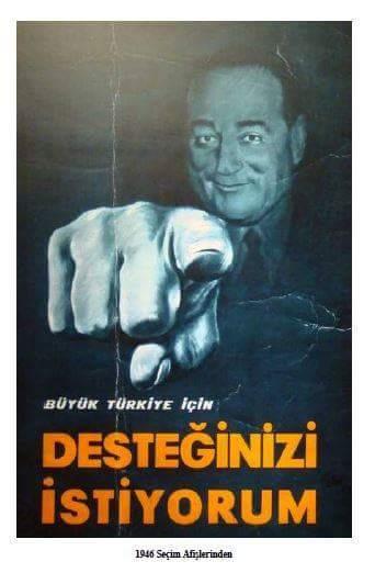 1946 yılı chp seçim afişi