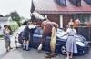 at arabasıyla otomobilin çarpışması