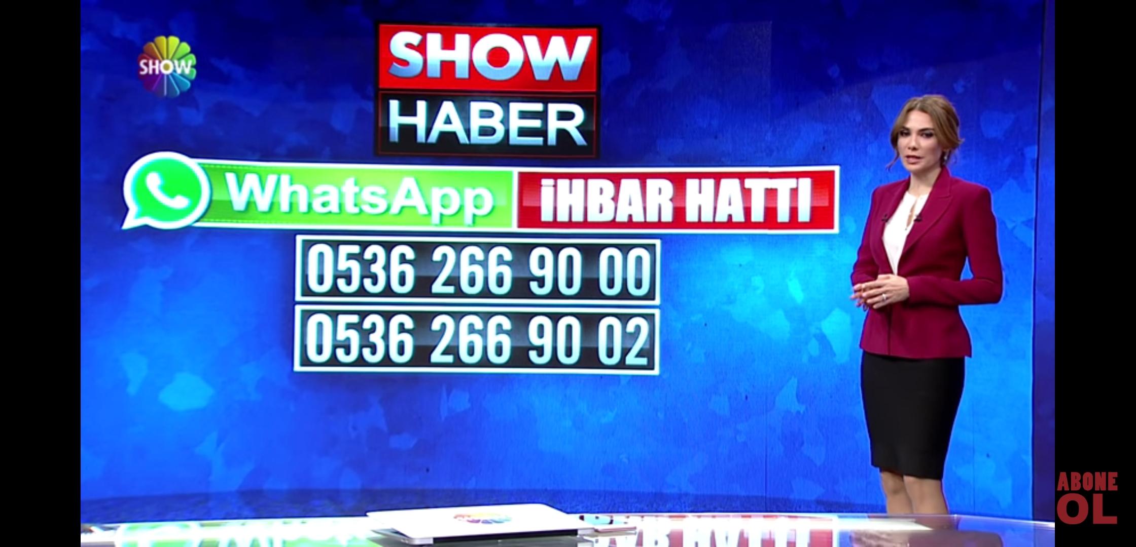 show haber whatsapp hattı