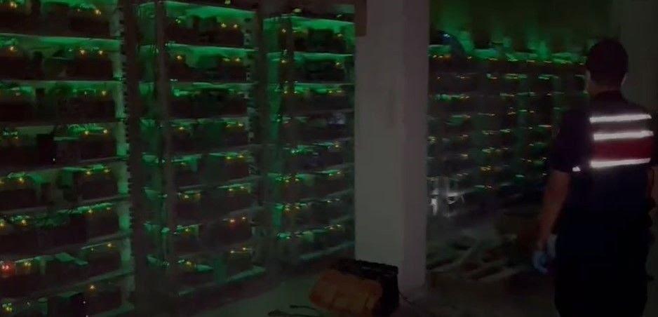 kaçak elektrikle 10 milyonluk bitcoin tesisi