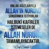 islam güneş gibidir üflemekle sönmez