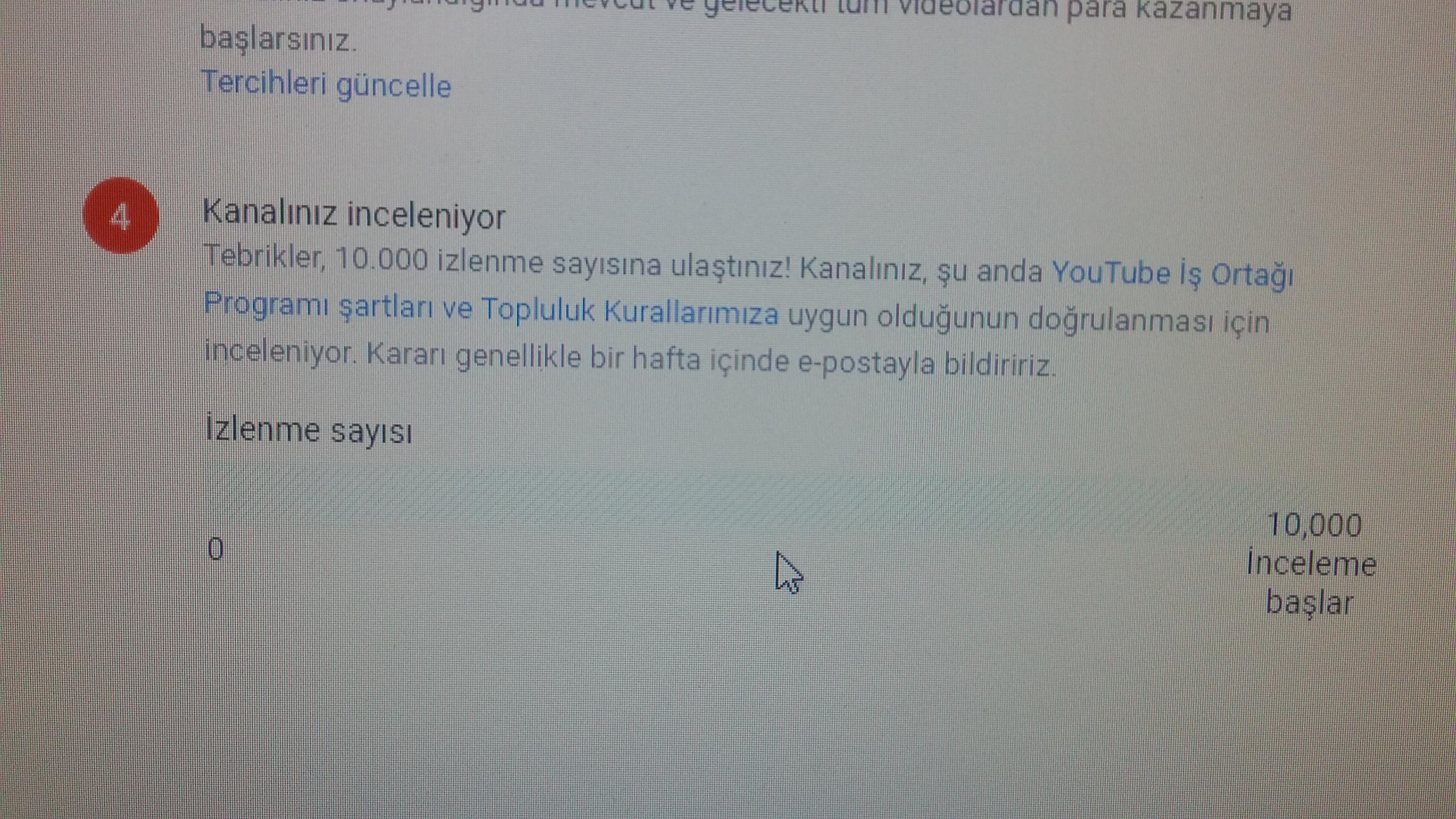 youtube nin kanalınızı incelemesi
