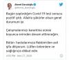 ahmet davutoğlu nun koronavirüse yakalanması