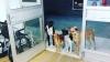 evsiz adamı hastane kapısında bekleyen köpekler