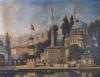 istanbul silüetinin sembolünün önüne inşaat yapmak