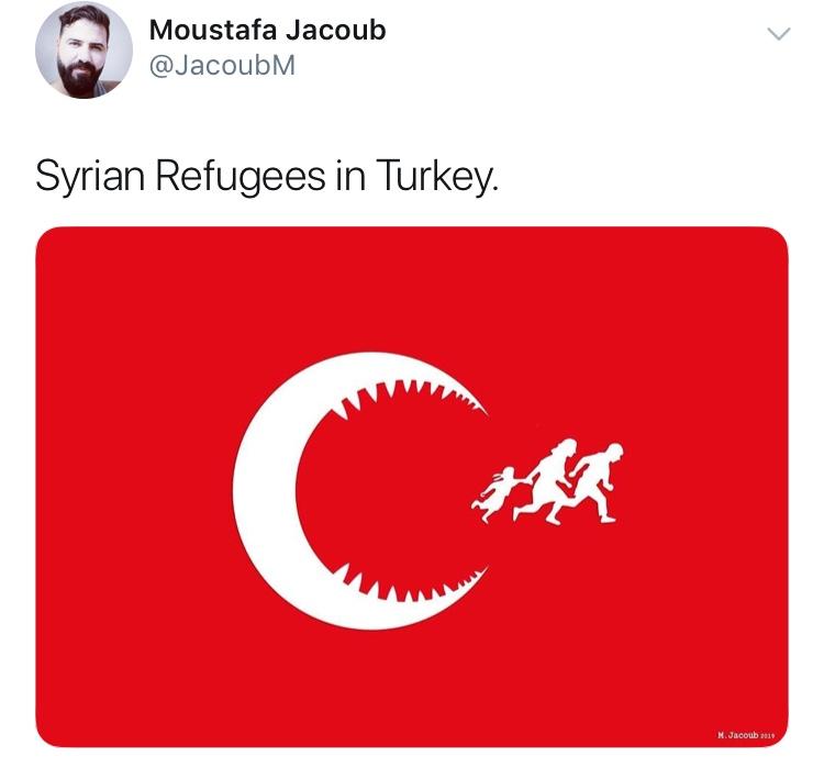 suriyeli nin türk bayrağına hakareti