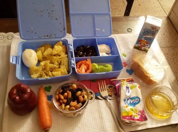 akşamdan beslenme çantası ve suluk hazırlamak