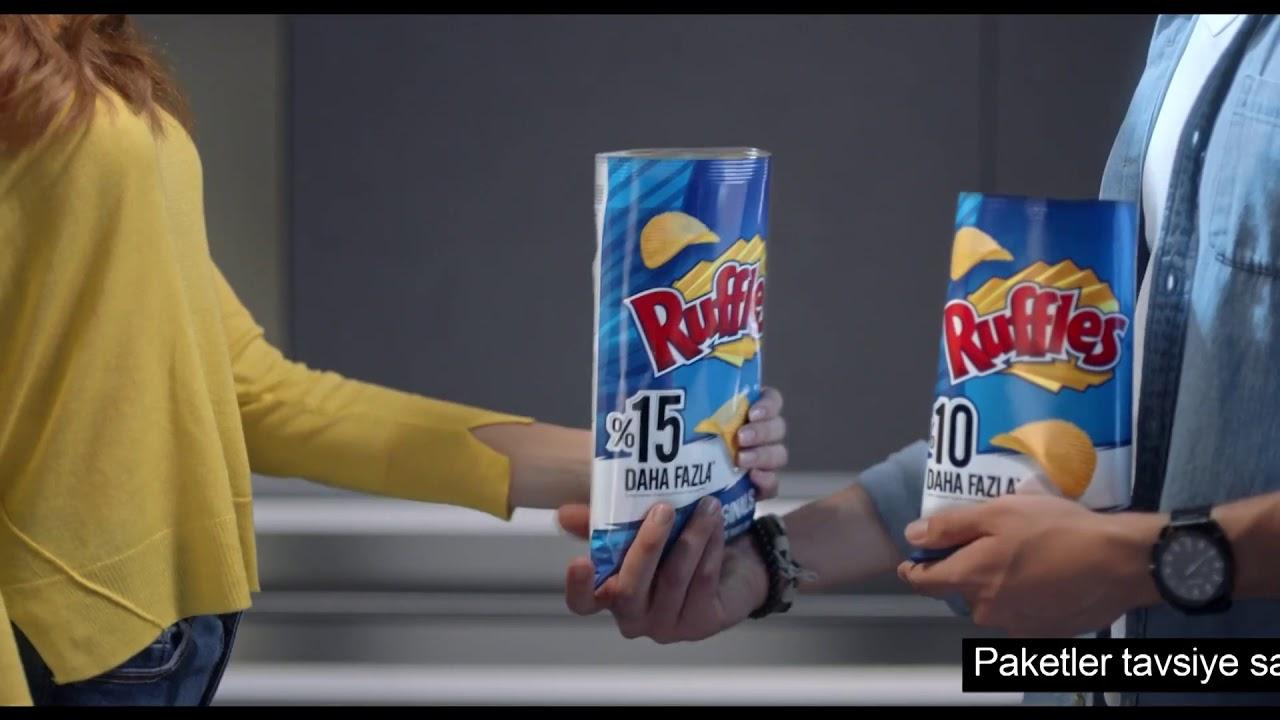 reklamlardaki muntazam açılmış cips paketi