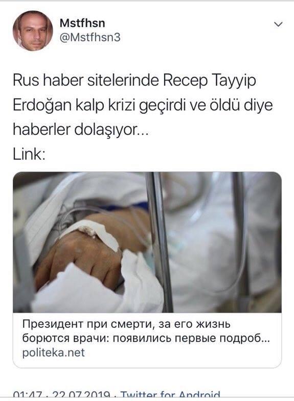 erdoğan öldü mü