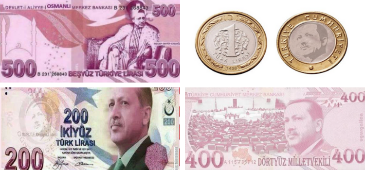 paranın üstüne rte yüzü basılır mı sorunsalı