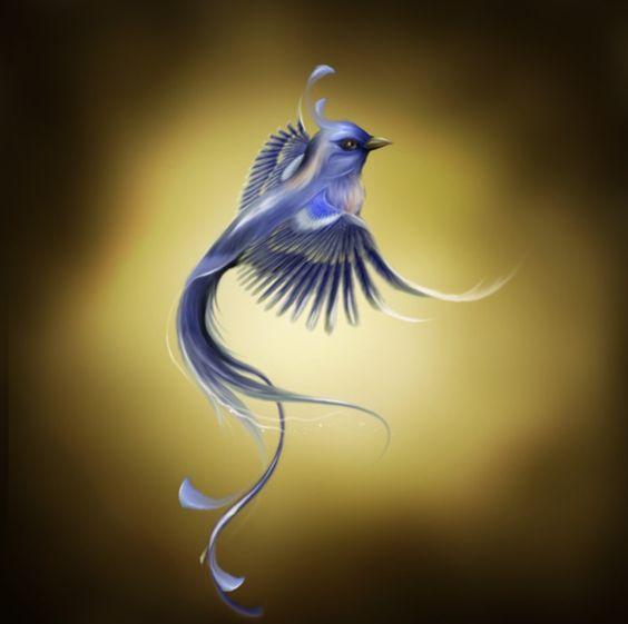 Открытки с синей птицей, днем рождения