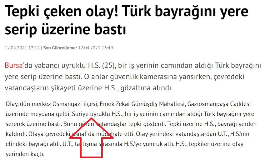 türk bayrağının üstüne basan oç ya meydan dayağı