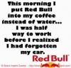enerji içecegiyle güne başlamak