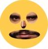 gözleri alişan şeklinde kızgın surat