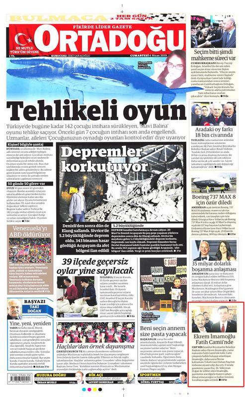mhp nin gazetesinde ekrem imamoğlu övgüsü