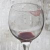 şarap bardağındaki ruj izi