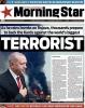 morning star gazetesinin terörist erdoğan manşeti