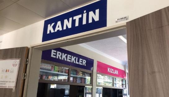 istanbuldaki ortaokulda haremlik selamlık kantin