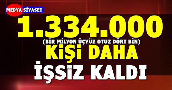 işsiz sayısının 4 milyon 544 bin kişi olması