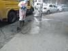esenler belediyesinin sokakları dezenfekte etmesi