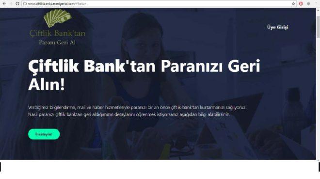çiflik bank mağdurlarını dolandıran siteler