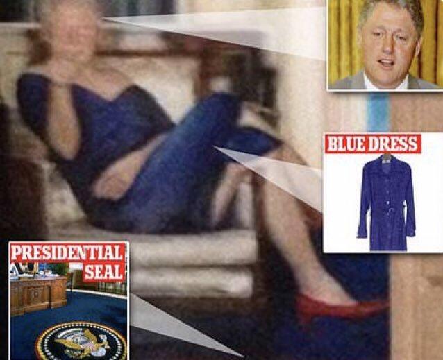 bill clinton un kadın elbiseli fotoğrafı