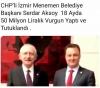 menemen bld başkanının 50 milyon tl vurgun yapması