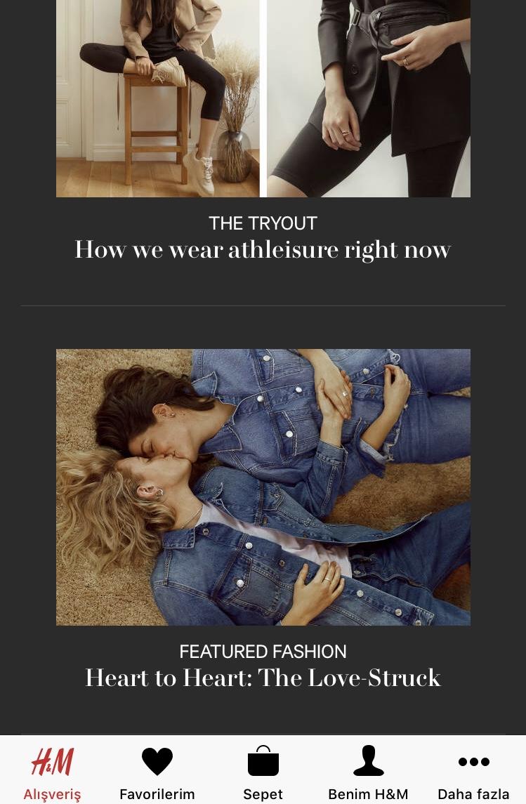 öpüşen kadınlarla reklam yapan giyim firması
