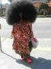 kıvırcık saçlı kadın